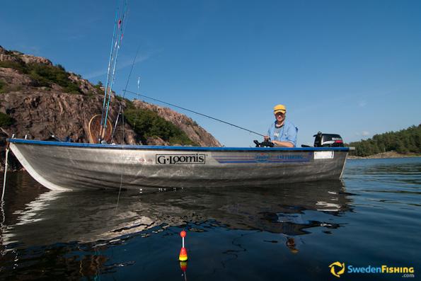La pesca nella regione Di Tambov su un corvo